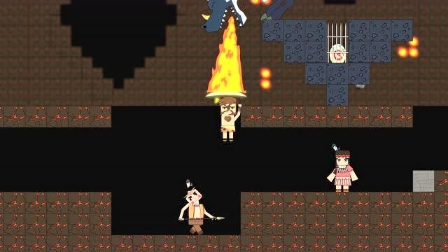 迷你世界动画第42集:酋长爆发斩熔岩巨人,挡住黑龙的火救同伴海报剧照