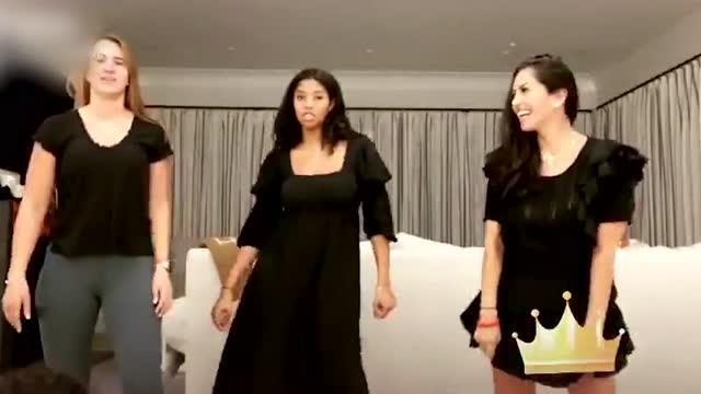 太养眼了!瓦妮莎、科比大女儿、WNBA新科状元一起热舞_全景NBA