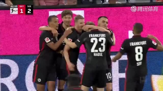 【集锦】法兰克福2-1逆转拜仁 格雷茨卡破荒 科斯蒂奇传射建功_腾讯德甲