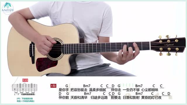 《遇到了》Mr.-吉他弹唱教学-大树音乐屋