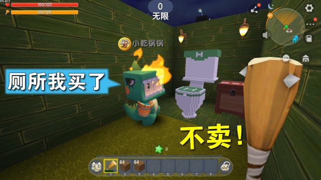 迷你世界:小乾看上我家厕所了,他要花500颗钻石买下,可我不卖