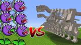 小君姐姐我的世界:100只化石恐龙VS 150只食人花