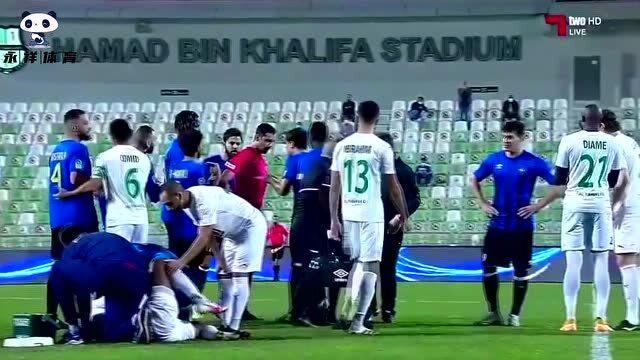 不敢相信!卡塔尔联赛开场40秒惊现残暴飞踹