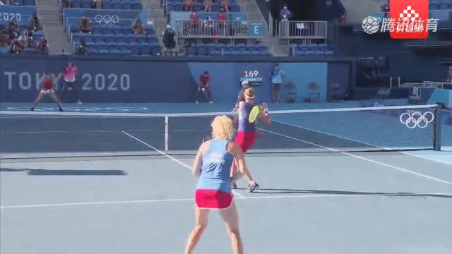 【集锦】网球女双决赛 克雷吉茨科娃/斯尼亚科娃2-0本西奇/戈卢比奇_职业体育