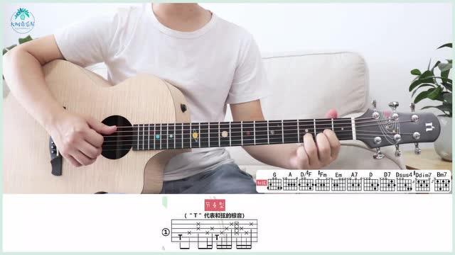 《夏天的风》温岚-吉他弹唱教学-大树音乐屋