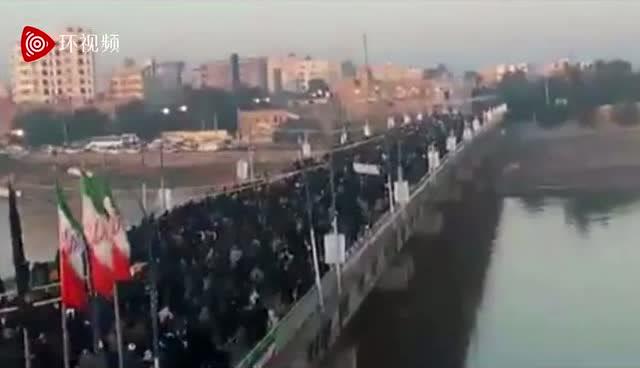 畫面震撼!被美軍殺害的蘇萊馬尼遺體運回伊朗,成千上萬伊朗人穿黑衣上街