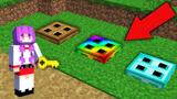 小君姐姐我的世界:挑战3个井盖地下洞,对战彩虹怪?