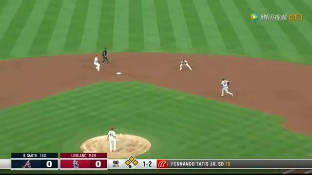 错失良机! 勇士队击球质量不佳红雀队完美防守拿到双杀结束半局_MLB