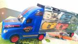 工程车玩具拆箱 欧洲卡车 汽车运输车 赛车