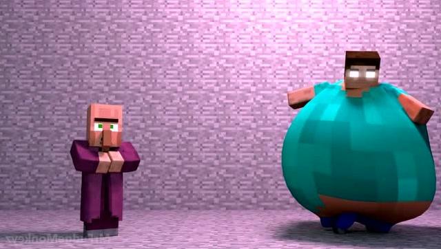 我的世界:胖子史蒂夫欺负村民