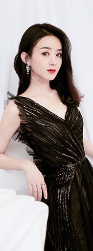 赵丽颖黑天鹅纱裙造型美得优雅又高级