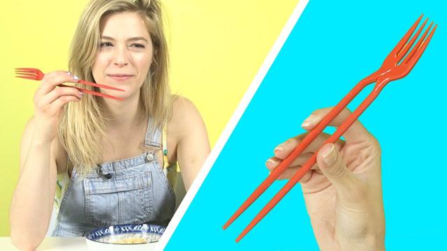 外国路人到底会不会用筷子?