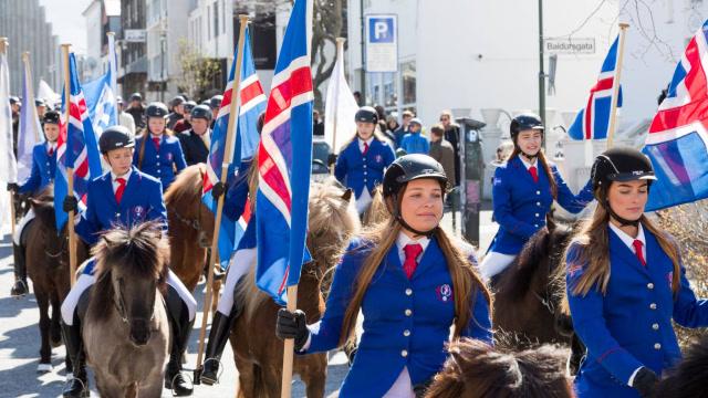 冰岛盛大国庆活动