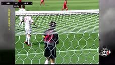 【进球】国足两人包夹防守失误 布伦特机敏头槌破门