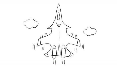 戰斗機幼兒親子簡筆畫 寶寶輕松學畫畫