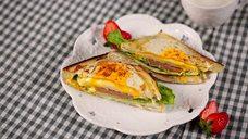 教你如何做美味的煎蛋起司火腿三明治