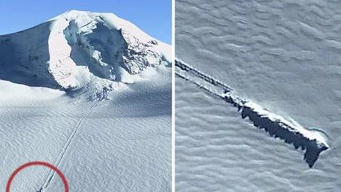 谷歌地球拍见南极UFO?滑行痕迹长达1000公尺!