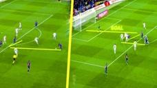 梅西的撞墙式配合进球,让门将毫无办法,看完都不知道怎么吹了