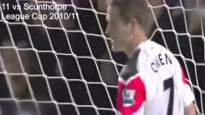 欧文曼联生涯17粒进球 奔袭挑射