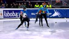 男子500米决赛 韩国选手强势夺冠第二第三名上演毫厘之间