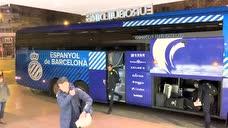 整装待发!西班牙人大巴抵达马德里备战国王杯