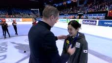 【颁奖】女子1000米决赛 韩雨桐第银牌惜败韩国选手