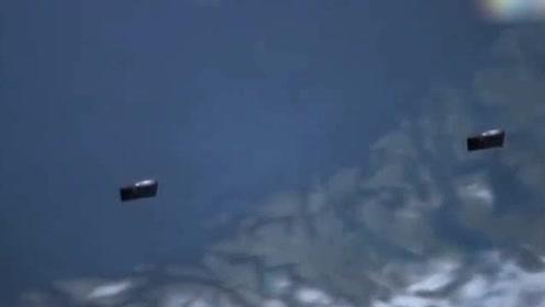 美国NASA清晰拍下2个带天窗的UFO,飞过北极上空的图片
