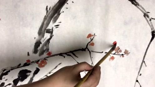 静待花开之无为画梅,国画老师6分钟教你学会画梅! (123播放)