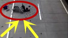 一次無意的擦碰,摩托變為廢墟碎片鋪遍馬路中央,男子當場身亡!