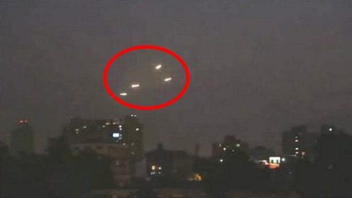 美国夜空出现100多个不明飞行物,是UFO?新闻直播纪录全过