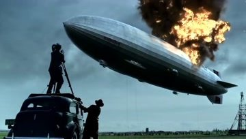 recreation of the hindenburg disaster