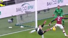 意大利杯:C罗对阵AC米兰个人集锦,精彩倒勾造点破门绝平