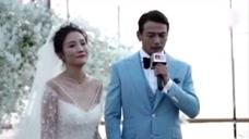 杨烁婚礼现场  八年浪漫相守感动流泪