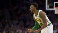 斯玛特强行封盖艾伦扣篮!NBA历史小个球员封盖大个子球员合集