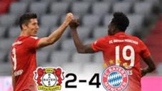 莱万凌空抽射破门,阿拉巴任意球破门,拜仁4-2药厂获双冠王图标