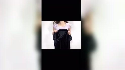 辣妹自拍分享,国潮风格短裙,穿上老美了