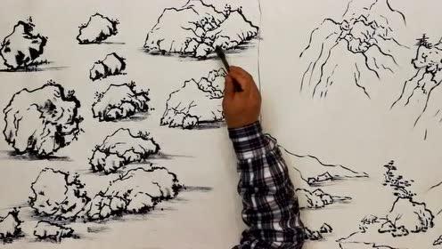 国画山水技法,山水画 (96播放)