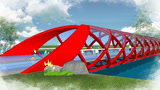 SketchUp和平橋建模思路