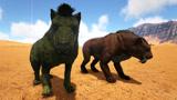 方舟生存进化:侏罗纪探险17长嘴巴非洲二哥和没尾巴的剑齿虎