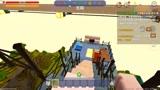 迷你世界:小杰和村民一起坐缆车参观风景