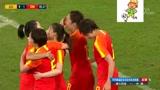 [女足]中国队前场精妙配合,唐佳丽85分钟劲射破门,打破僵局
