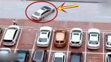 女司机这停车技术让人佩服 停车吃饭的 停玩吃完饭了