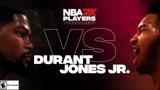 NBA2K球员锦标赛 杜兰特(快船)vs琼斯(雄鹿)全场精华