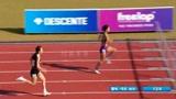 韩国高中田径运动会女生100米栏决赛