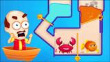拯救小金鱼有只螃蟹,要怎么样救出小金鱼呢?