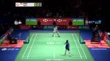 羽毛球 欣赏一记戴资颖的背后回球 对手是马林