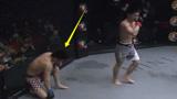 不败强敌激怒UFC中国新星,结果一个回合不到就被KO,裁判看怕了