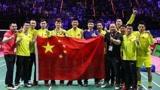 中国羽毛球队和大家一起抗疫情