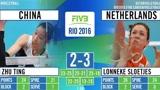 中国女排遭遇当头一棒!里约奥运会首战荷兰全场精编!