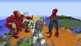 Minecraft动画:钢铁侠vs蜘蛛侠